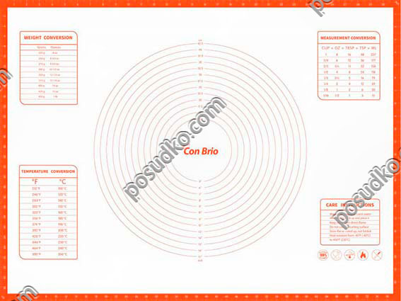 Confectioners Лист для випічки з розміткою 800 х600 мм (Con Brio)