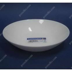 Diwali Тарілка кругла глибока миска біла d-200 мм, h-43 мм 700 мл (Luminarc, France)