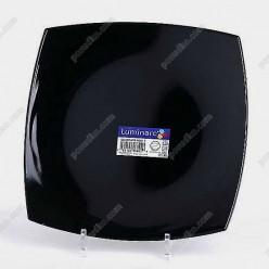 Quadrato Тарілка квадратна мілка чорна 250 х250 мм (Luminarc, France)