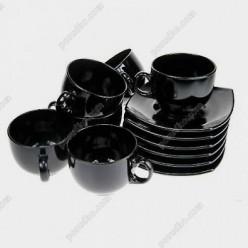 Quadrato Набір для чаю чорний 140 х140 мм 220 мл (Luminarc, France)