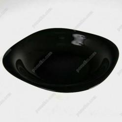 Carine Тарілка квадратна без кутів глибока класична чорна 210 х210 мм, h-35 мм 650 мл (Luminarc, France)