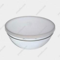 Empilable stack Салатник круглий з кришкою прозорий d-120 мм, h-55 мм 330 мл (Luminarc, France)