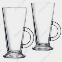 Irish glass Чашка конус з ручкою на чаші Latino d-76 мм, h-150 мм 290 мл (Luminarc, France)