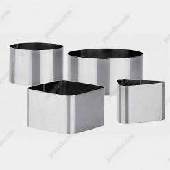 Кільце гарнірне Форма для формовки та випічки квадратна 50 х50 мм, h-45 мм 110 мл (Steelay)