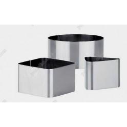 Кільце гарнірне Форма для формовки та випічки квадратна 60 х60 мм, h-35 мм 120 мл (Steelay)