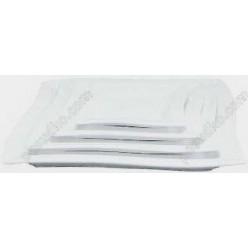 Helfer white Тарілка квадратна мілка вигнуте 250 х250 мм (Helfer)