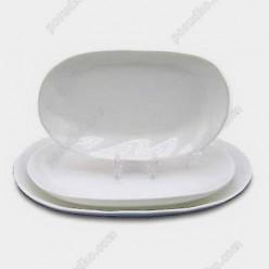 Блюдо овальное Helfer white