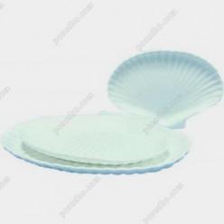 Блюдо в форме ракушки овальное Helfer white