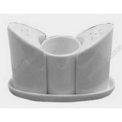 Helfer white Набір для спецій з підставкою 3 предмета човник h-90 мм (Helfer)
