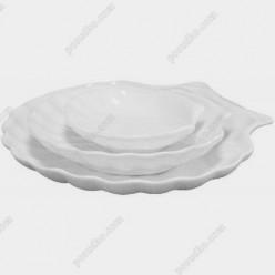 Блюдо в форме ракушки Helfer white