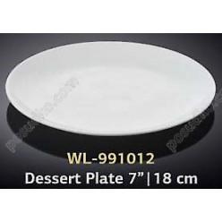 Wilmax Тарілка кругла без поля мілка d-180 мм (Wilmax)