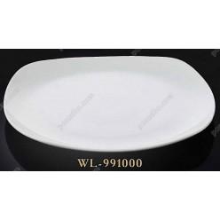 Тарелка квадратная без углов мелкая Wilmax