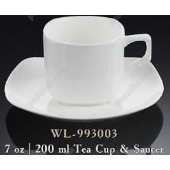 Wilmax Чашка для чаю з блюдцем квадратна 200 мл (Wilmax)