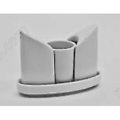 Alt porcelain Набір для спецій з підставкою 3 предмета човник 125 х55 мм, h-90 мм (Alt porcelain)