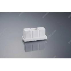 Alt porcelain Набір для спецій з підставкою 3 предмета квадрат h-70 мм (Alt porcelain)