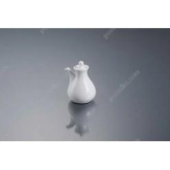 Alt porcelain Ємність для соєвого соусу з носиком з кришкою h-100 мм 120 мл (Alt porcelain)