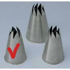 Професійна Насадка корона з косими зубчиками d-15 мм, d-осн-30, h-50 мм (Martellato)