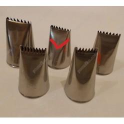 Професійна Насадка пласка з зубчиками 20 х3 мм, d-осн-30, h-43 мм (Martellato)