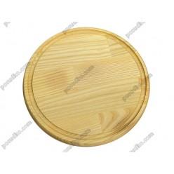 Дуб, ясен Дошка розробна з жолобом кругла d-340 мм, h-20 мм (Кедр)