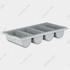 Polycarbonate Підставка для приборів, аксесуарів горизонтальна 4 відділення 520 х290 мм, h-95 мм (Sunnex)