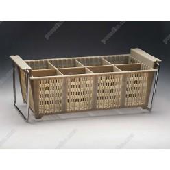 Емкость вертикальная для стол. приб. Polycarbonate