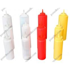 Kitchen Пляшка для соусу, сиропу з носиком біла d-60 мм, h-195 мм 360 мл (FoREST)