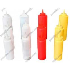 Kitchen Пляшка для соусу, сиропу з носиком жовта d-50 мм, h-173 мм 240 мл (FoREST)