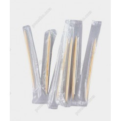 Бамбукові Зубочистки у целофані індивідуально запаковані L-65 мм (Інші бренди)