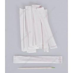 Бамбукові Зубочистки в папері з ментолом індивідуально запаковані L-65 мм (Інші бренди)