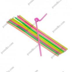 Artist Трубочки з довгою гофрою неон d-5 мм, L-270 мм (Інші бренди)