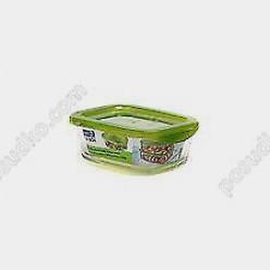Box keepn Ємність для зберігання прямокутна з кришкою зелена кришка 140 х105 мм, h-55 мм 370 мл (Luminarc, France)