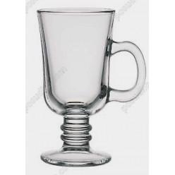 Irish glass Чашка на ніжці ручка на чаші 220 мл (Pasabahce)
