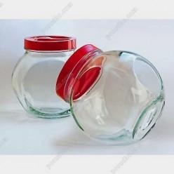Sweet Банка з пластиковою кришкою червона кришка 160 х110 мм, h-165 мм 1,75 л (EverGlass)