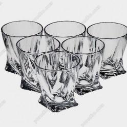 Quadro Склянка низька 92х92 мм, h-98 мм 340 мл (Bohemia)