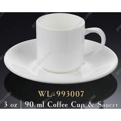 Wilmax Чашка для кави з блюдцем 90 мл (Wilmax)