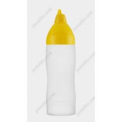 Kitchen Пляшка для соусу, сиропу з носиком з шкалою жовта кришка d-60 мм, h-205 мм 350 мл (Araven)