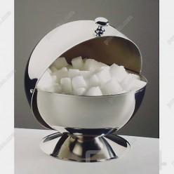 Coffee tea accessori Цукорниця з кришкою яка обертається d-135 мм, h-150 мм (APS)