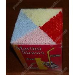 Martini Трубочки прямі овальні мікс кольорів d-3 мм, L-130 мм (Інші бренди)