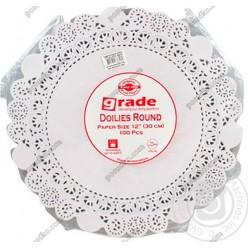 Підложка Серветка паперова ажурна біла d-320 мм (Grade)