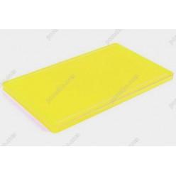 Board plastic 20 Дошка розробна з жолобом жовта 400 х300х20 мм (Durplastics)