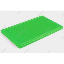 Board plastic 20 Дошка розробна з жолобом зелена 400 х300х20 мм (Durplastics)