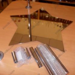 Банкет Пластина зірка на 5 ніжок без ніжок d-450 мм (Steelay)