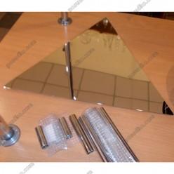 Банкет Пластина трикутна на 3 ніжки без ніжок L-455 мм (Steelay)
