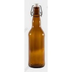 Glass rope lock Пляшка з бугельним корком коричнева d-70 мм, h-270 мм 500 мл (EverGlass)