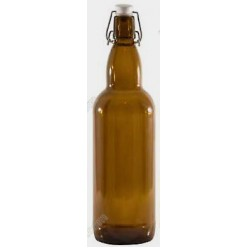 Glass rope lock Пляшка з бугельним корком коричнева d-80 мм, h-320 мм 1,0 л (EverGlass)