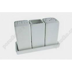 Fudo Набір для спецій з підставкою 3 предмета квадрат 135 х65 мм, h-95 мм (FoREST)