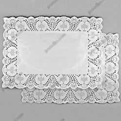Підложка Серветка паперова ажурна прямокутна біла 400 х300 мм (Grade)