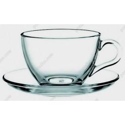 Basik Чашка для чаю з блюдцем d-135 мм 200 мл (Pasabahce)