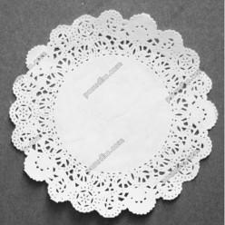 Підложка Серветка паперова ажурна біла d-240 мм (Grade)
