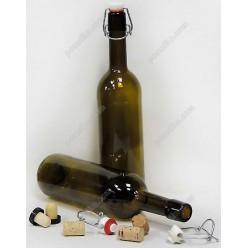 Бутылка с бугельной пробкой вино Glass rope lock